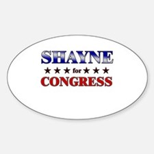 SHAYNE for congress Oval Decal