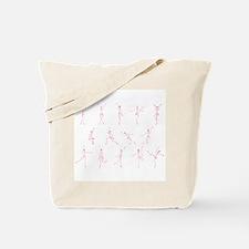 Dancing Figure Sketches - Pin Tote Bag