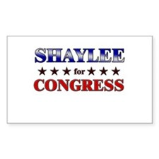 SHAYLEE for congress Rectangle Decal