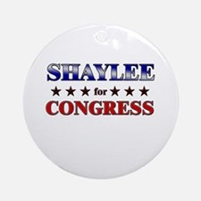 SHAYLEE for congress Ornament (Round)