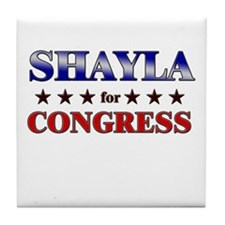 SHAYLA for congress Tile Coaster
