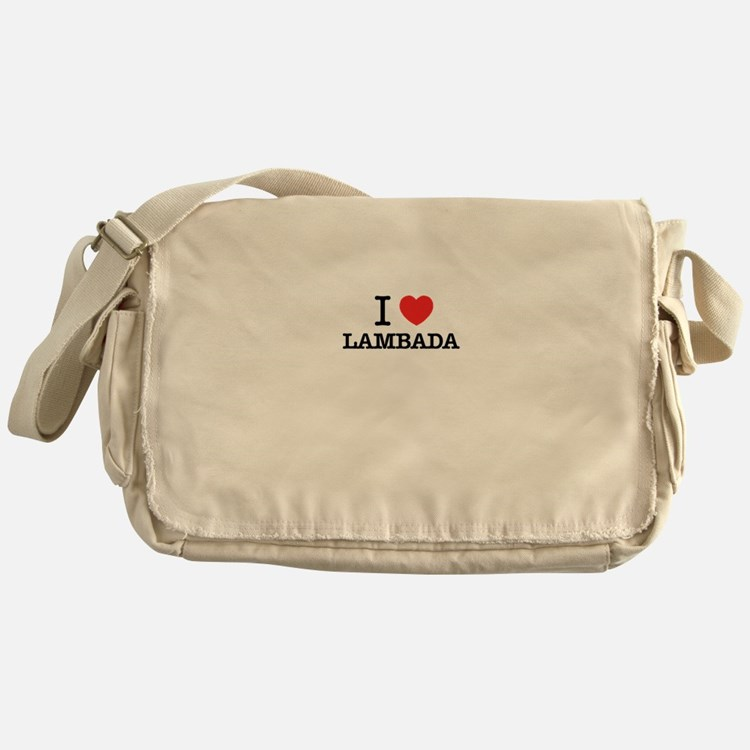 I Love LAMBADA Messenger Bag