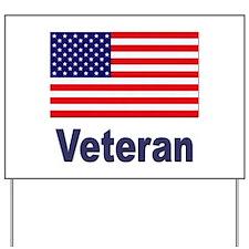 American Flag Veteran Yard Sign