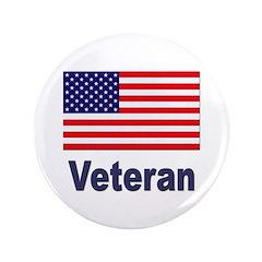 "American Flag Veteran 3.5"" Button"