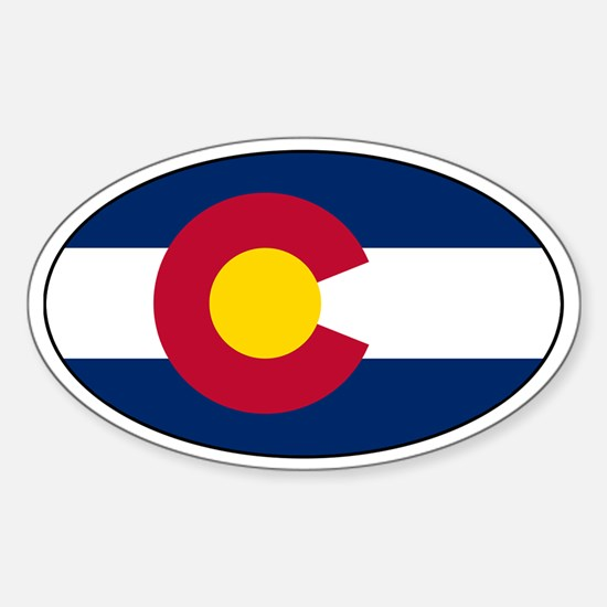 Colorado Flag Bumper Stickerss Oval Bumper Stickers