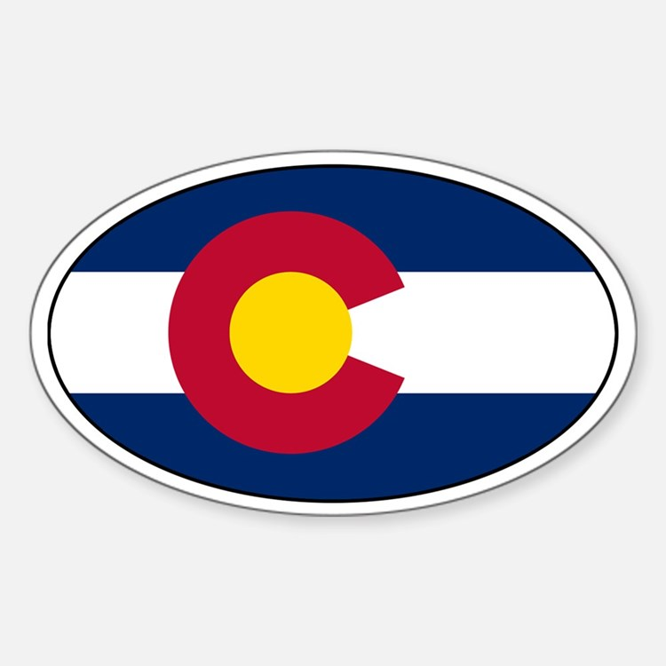 Colorado Flag Decals Oval Decal