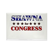 SHAWNA for congress Rectangle Magnet