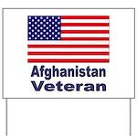Afghanistan Veteran Yard Sign