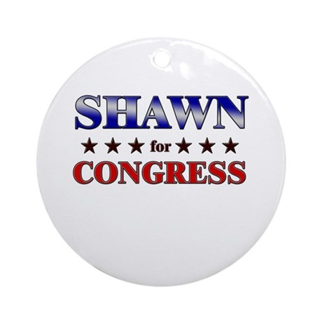 SHAWN for congress Ornament (Round)