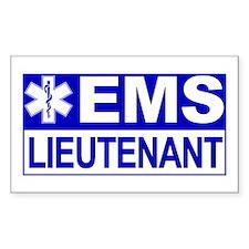 EMS Lieutenant Rectangle Decal