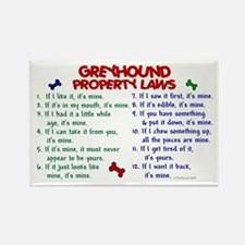 Greyhound Property Laws 2 Rectangle Magnet (10 pac