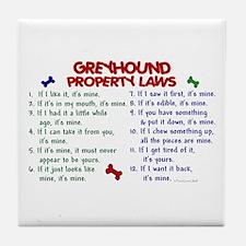 Greyhound Property Laws 2 Tile Coaster