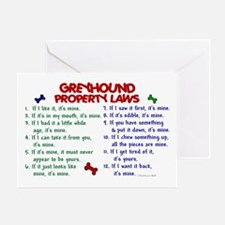 Greyhound Property Laws 2 Greeting Card