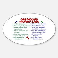 Greyhound Property Laws 2 Oval Decal