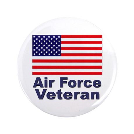 """Air Force Veteran 3.5"""" Button"""