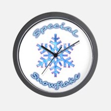 Special Snowflake Wall Clock