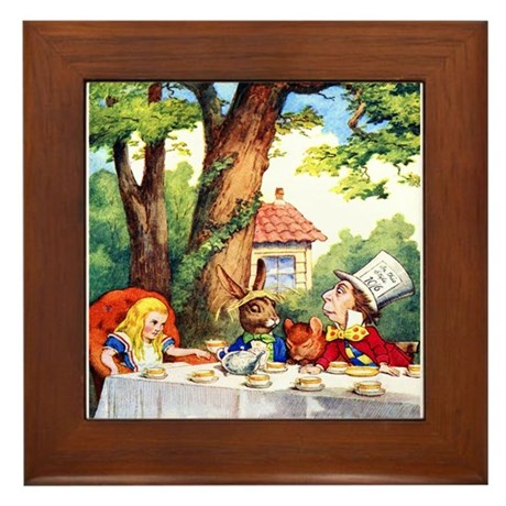 MAD HATTER Framed Tile
