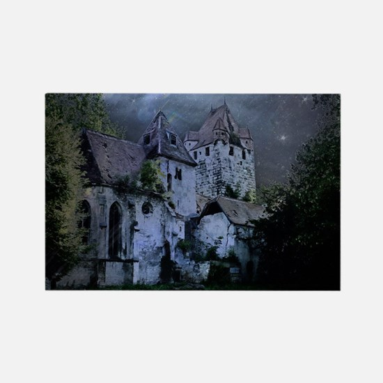 Darkness Halloween Castle Magnets