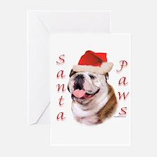 Santa Paws Bulldog Greeting Cards (Pk of 20)