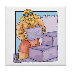 The Master, Abiff at Labor Tile Coaster