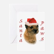 Santa Paws Border Terrier Greeting Card