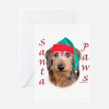 Santa Paws Wire Dachshund Greeting Card