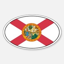 Florida flag Decals Oval Decal