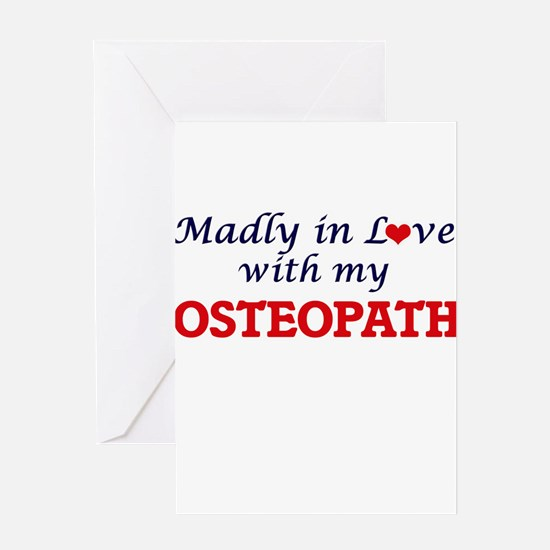Madly in love with my Osteopath Greeting Cards