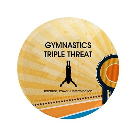 "Gymnastics Teepossible.com 3.5"" Button (100 pack)"