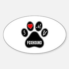 I love my Foxhound Dog Decal
