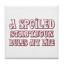 Spoiled Staby Tile Coaster