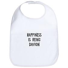 Happiness is being Davion Bib