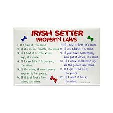 Irish Setter Property Laws 2 Rectangle Magnet (100