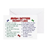 Irish setters Greeting Cards