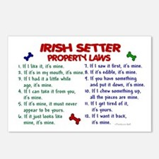Irish Setter Property Laws 2 Postcards (Package of