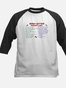 Irish Setter Property Laws 2 Kids Baseball Jersey