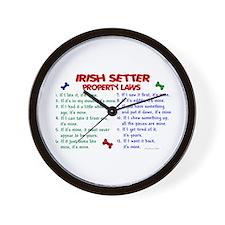 Irish Setter Property Laws 2 Wall Clock