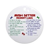 Irish setter Round Ornaments