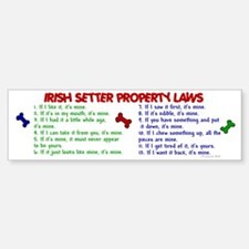 Irish Setter Property Laws 2 Bumper Bumper Bumper Sticker