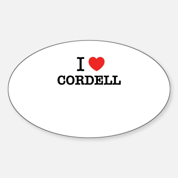 I Love CORDELL Decal