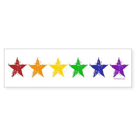 Gay Pride Stars 2 Bumper Sticker