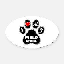 I love my Field Spaniel Dog Oval Car Magnet