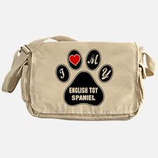I love my English Toy Spaniel Dog Messenger Bag