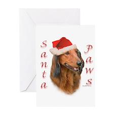 Santa Paws Dachshund Greeting Card