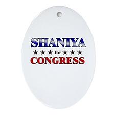 SHANIYA for congress Oval Ornament