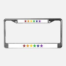 Gay Pride Stars 2 License Plate Frame