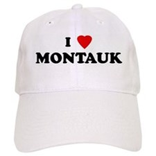 I Love MONTAUK Baseball Cap