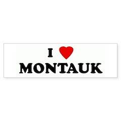 I Love MONTAUK Bumper Bumper Sticker