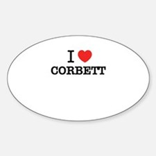 I Love CORBETT Decal