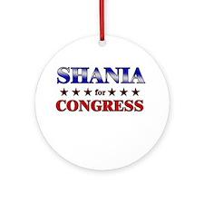 SHANIA for congress Ornament (Round)